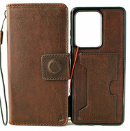 Genuine Leather Case for Galaxy Note20 Ultra Soft Wallet Removable Cover ID Wireless Charging Note 20 Jafo 5G