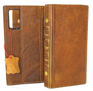 Genuine Leather Case for Samsung Galaxy Note20 Tan Soft Wallet Book Bible Luxury Davis Note 20 Vintage 5G