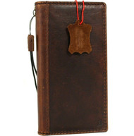 Genuine oiled vintage leather Case for Google Pixel 4 book rubber holder wallet luxury Closure cover pro