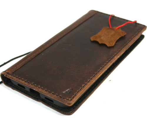 Genuine oiled vintage leather Case for Google Pixel 5 book rubber holder wallet luxury Closure cover pro