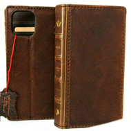 Genuine Soft Leather Case For Apple iPhone 12 Pro Wallet Vintage Bible Design Cover Book Davis