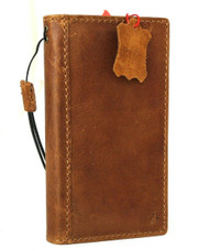 Genuine Full Leather Case For Apple iPhone 12 Book Wallet ID Window Vintage Style Cover Book Tan