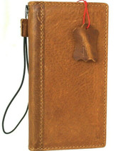 Genuine Full Leather Case For Apple iPhone 12 Pro Max Book Wallet ID Window Vintage Style Cover Book Tanned