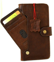 Genuine Full Soft Leather Case For Apple iPhone 12 Pro Max Wallet ID Window Credit Cards Slots Vintage Style Cover Book DavisCase