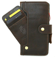 Genuine Soft Dark Leather Case for Galaxy S20 FE Wallet Book Card Slots ID Window Closure Vintage Design 5G Davis