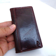 genuine leather case FIT for iphone 5 book wallet cover pouch 3g s cards retro style handmade