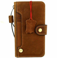 Genuine Full Leather Case For Apple iPhone 12 PRO Wallet Vintage Style Cover Book Luxury Tan Cards ID Window Wireless Davis