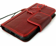 Genuine Full Leather Case For Apple iPhone 12 PRO Wallet Luxury Cover Book Magnetic Clasp Red Wireless Cards Davis