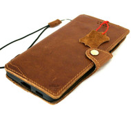 Genuine Full Leather Case for Samsung Galaxy S21 Plus Credit Cards Wallet Book Luxury Wireless cover Slim Soft Tan 5G Davis