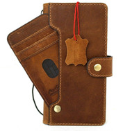 Genuine Tanned Leather Case for Samsung Galaxy S21 Plus 5G Credit Cards Wallet Book Luxury Wireless cover Vintage Style Soft ID Window DavisCase