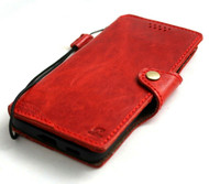 Genuine Top Grain Leather Case for Samsung Galaxy S21 Credit Cards Wallet Book Wireless cover Slim Soft Red DavisCase