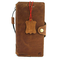 Genuine Natural Tan Leather Case for Samsung Galaxy S21 Credit Cards Wallet Book Wireless cover Slim Soft DavisCase