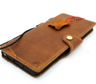 Genuine Tan Leather Case for Samsung Galaxy Note 20 5G Book Soft Wallet Cover Cards Slots Holder Luxury Rubber Slim Vintage Style Davis