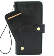Genuine Black Leather Case for Samsung Galaxy Note 20 Ultra 5G book wallet handmade rubber credit cards Slots cover wireless charging Davis