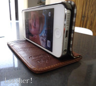genuine real natural leather case fit iphone 5 cover book wallet stand holder 5s