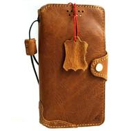 Genuine Vintage leather Case for Google Pixel 5 book rubber holder wallet luxury Closure cover Tan Slim Soft Wireless charging Davis