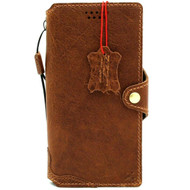 Genuine Tan Leather case for Samsung Galaxy Note 10 Plus book wallet soft holder Card slots Rubber stand Wireless charging Slim Davis