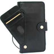 Genuine Black Leather Case for Samsung Galaxy S20 Wallet Book Soft Luxury card Closure Wireless DAVIS