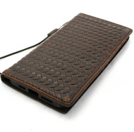 Genuine Leather Case For Apple iPhone 12 Pro Max Wallet Case ID Window Vintage Style Credit Cards Cover Slim Davis Case