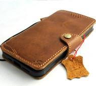 Genuine Tan Leather Case for iPhone 11 Vintage Cover Credit Cards Slots Holder Rubber Handmade Slim Style Davis