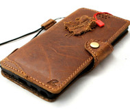 Genuine Tanned Leather Case for Samsung Galaxy Note 10 Wallet Book Cards Holder Closure Slim Style Davis