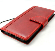 Genuine Red Leather Wallet Case For Apple iPhone 12 Pro Max Cover  ID Window Credit Cards Slots Book DavisCase