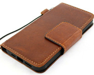 Genuine Tan Leather Wallet Case For Apple iPhone 12 Pro Max Cover Credit Cards Slots Book Magnetic Closure Davis
