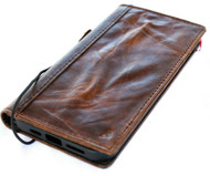 Genuine Vintage Design Leather Case For Apple iPhone 12 Pro Max Book Wallet Style ID Window Credit Cards Slots Soft Cover Top Grain DavisCase