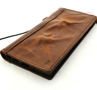 Genuine Vintage Leather Case for Samsung Galaxy S21 Ultra 5G Book Wallet Cover Cards Wireless Charging ID Window Luxury rubber stand Davis