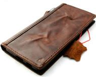 Genuine Dark Vintage Leather Wallet Case for Samsung Galaxy S21 Plus 5G Book ID Window Cover Cards Wireless Charging Holder Luxury Rubber Top Grain DavisCase 1948