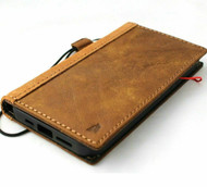 Genuine Soft Leather Wallet Case For Apple iPhone 12 Book ID Window Vintage Credit Cards Slots Suede Cover Full Grain Slim DavisCase