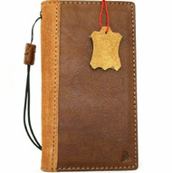 Genuine Soft Leather case for Apple iPhone 11 Cover Wallet Credit Holder Book Wireless Charging Suede Style Holder Tan Slim Davis 1948