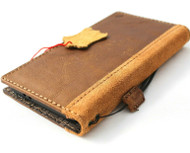 Genuine Leather Wallet Case for Samsung Galaxy S21 book cover Cards wireless charging holder luxury rubber ID window Suede Design Slim Tan