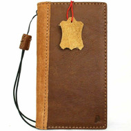 Genuine Soft Leather Case for Samsung Galaxy S21 Plus 5G Book Wallet Cover Cards Tan Suede Style Wireless charging holder luxury rubber ID window Davis