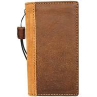 Genuine Tan Leather Case for Google Pixel 4a 4G Book Wallet Full Cards holder Vintage Suede Design Stand Classic Luxury Slim Davis 1948