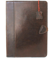 Genuine Vintage Leather Case for Apple iPad Pro 11 (2020) Handmade Hard Cover flip rubber Credit Cards slots Brown slim Design DavisCase