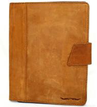 Genuine Soft Vintage Leather Case for Apple iPad Pro 11 (2020) Handmade Hard Cover flip rubber Credit Cards slots slim Tan Suede DavisCase