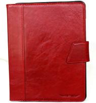 Genuine Vintage Leather Case for Apple iPad Pro 11 (2020) Handmade Hard Cover flip rubber Credit Cards slots slim Red DavisCase