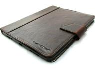 Genuine Vintage Leather Case for Apple iPad Pro 11 (2020) Handmade Hard Cover flip rubber Credit Cards slots slim Dark DavisCase