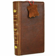 Genuine Natural Leather Wallet Case for Google Pixel 5 Book Design Slim holder Retro Stand Luxury IL Davis 1948