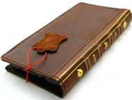Genuine Dark Leather Case for Google Pixel 4a 5G Book Bible Design Wallet Cards Holder Retro Stand Luxury IL Davis 1948