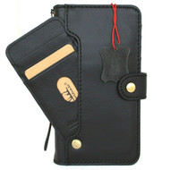 Genuine Black Leather Wallet Case for Samsung Galaxy S20 FE Book Cover Cards Slots ID Window Wireless Charging Holder Soft Rubber Vintage Style 5G DavisCase