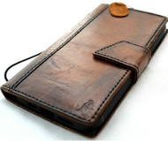 Genuine Oiled Leather Wallet Case For Apple iPhone 12 Pro Max Book Vintage Style ID Window Credit Card Slots Cover Wireless Top Grain Davis 1948
