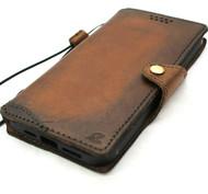 Genuine Soft Leather Wallet Case For Apple iPhone 12 Pro Max Book Vintage Look Credit Card Slots Slim Design Cover Full Grain DavisCase
