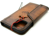 Genuine Oiled Leather Wallet Case For Apple iPhone 11 Pro Max Cover Credit Cards Holder Wireless Charging Book Vintage Style Strap Magnetic Closure DavisCase