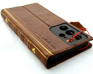 Genuine  Leather Case for Samsung Galaxy S21 Ultra Credit Cards Wallet Book Bible Design Luxury Wireless cover Classic 5G DavisCase