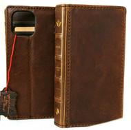 Genuine Soft Leather Case For Apple iPhone 13 Pro Wallet Vintage Bible Design Cover Book Davis