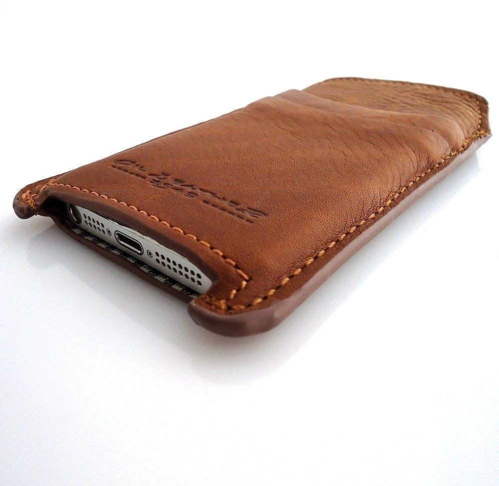 new concept 9740f 2f8b5 genuine real leather case fit for iphone 5 cover purse pull pocket slim  iphone5