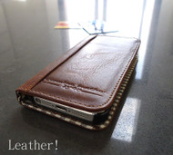 genuine real leather case for iphone 4s cover purse s 4 book wallet handmade