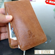genuine real leather Flip case fit iphone 4s book Card wallet stand holder 4 s R